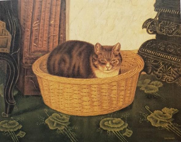 """Cat in a Basket, Salomon """"Sal"""" Meijer"""