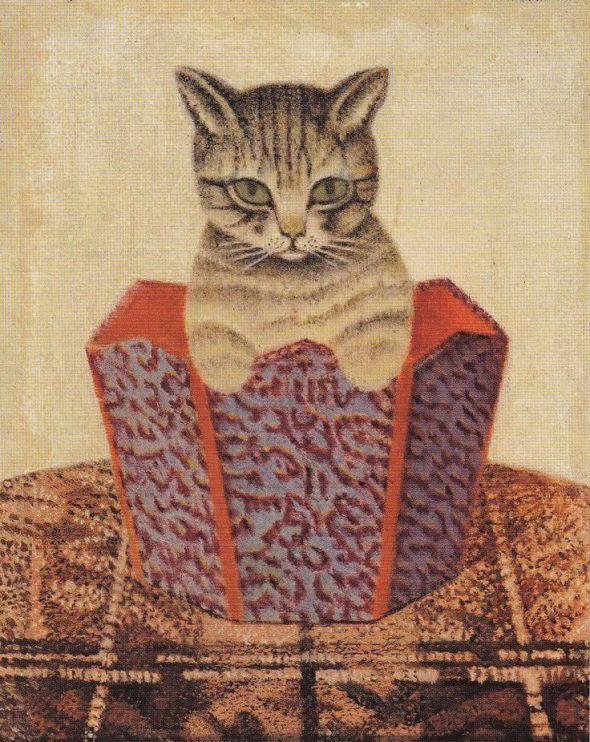 Cat in a Wastepaper Basket, Sal Meijer