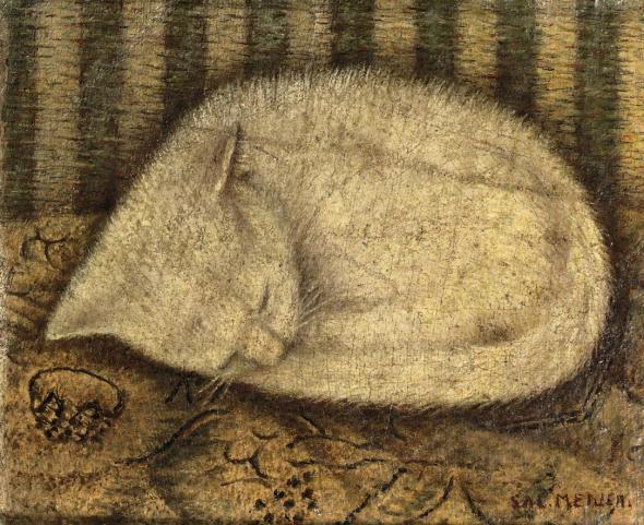 Sleeping White Cat, Sal Meijer