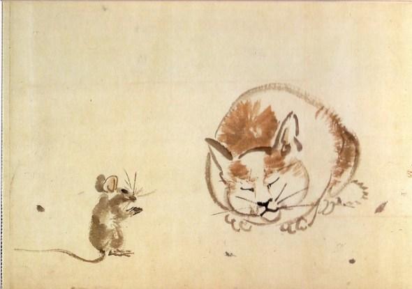 Cat and Mouse, Kawanabe Kyosai