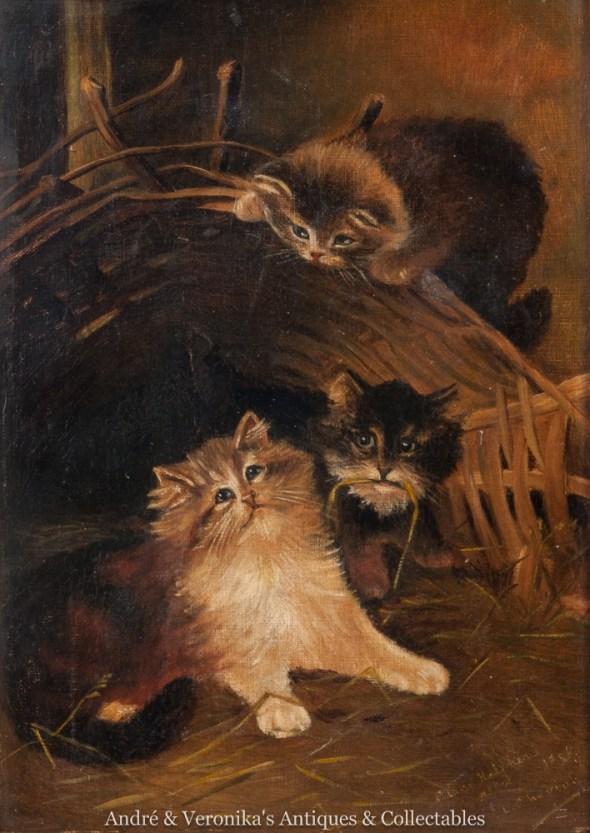Three Kittens Playing, Lilian Cheviot