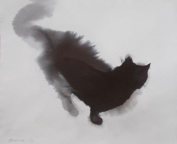 Endre Penovac, Black Cat Looking