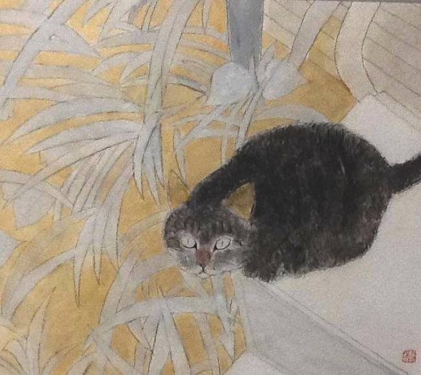 Shozo Ozaki, Cat Looking UP
