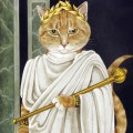 cats in paintings, cat art