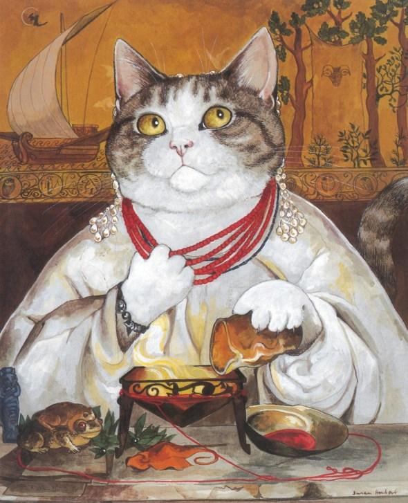 contemporary cat art paintings