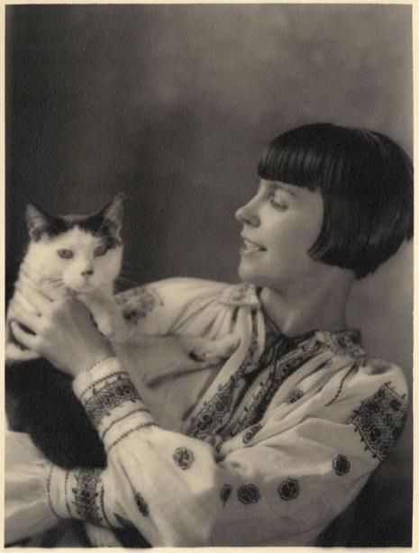 Wanda Gag with Cat