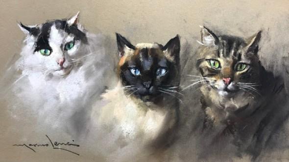 Siamese, Tabby, and Tuxedo Cats, Marino Lenci