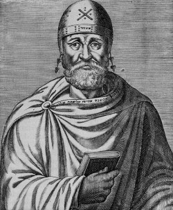 Sketch of Philo of Alexandria by André Thevet (1502-1509): from 'The real experiences and lives of illustrious Greek, Latin and Paean men' (1584)