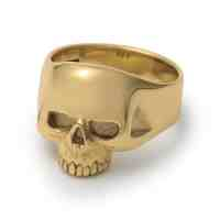 9ct Gold Smallest Evil Skull Ring  The Great Frog