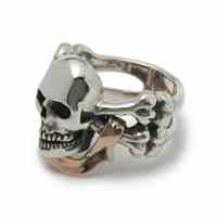 Skull & Crossbones with Banner Ring  The Great Frog