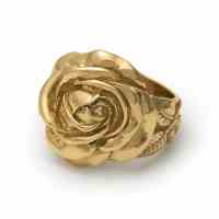 Gold Rose Ring  The Great Frog