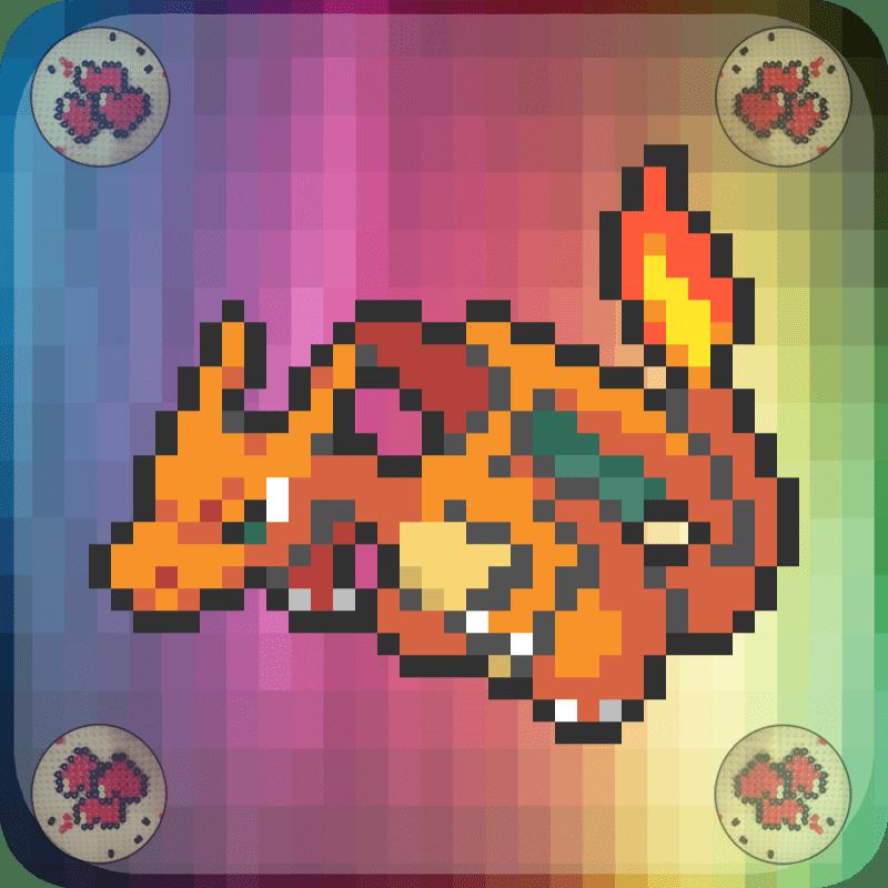 dracaufeu-vignette-pokemon-pixelart-pixelcraft-pixelbeads-perlerbeads-perlerart-hama-hamabeads-hamasprites-artkal-artkalbeads-fusebeads-retro-gaming-sprite-design-tutoriel-pattern