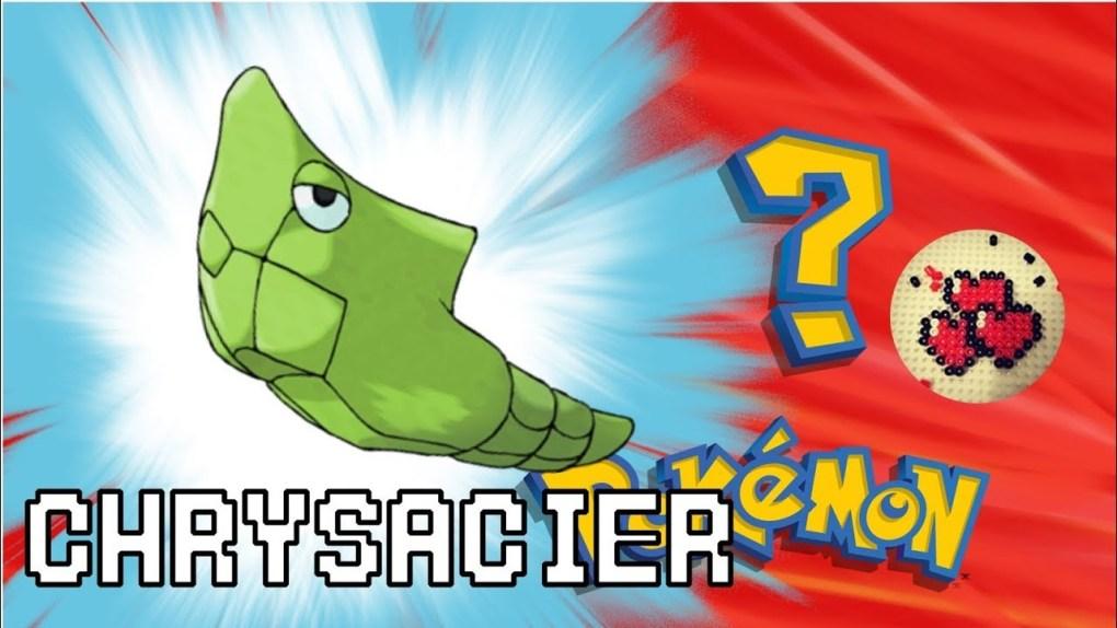 chrysacier-video-pokemon-pixelart-pixelcraft-pixelbeads-perlerbeads-perlerart-hama-hamabeads-hamasprites-artkal-artkalbeads-fusebeads-retro-gaming-sprite-design-tutoriel-pattern