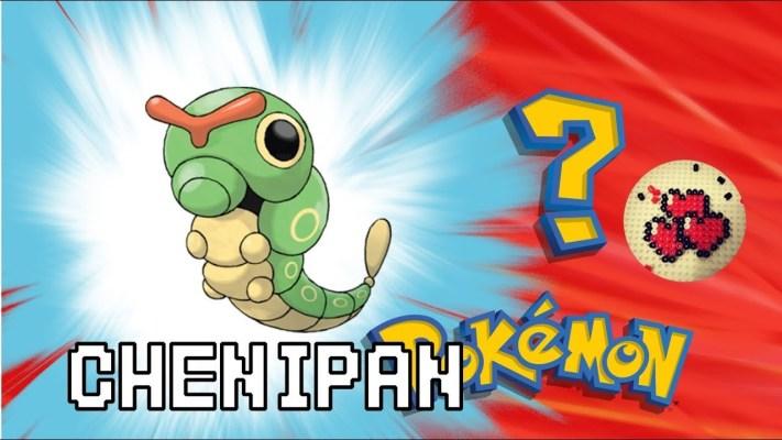 chenipan-video-pokemon-pixelart-pixelcraft-pixelbeads-perlerbeads-perlerart-hama-hamabeads-hamasprites-artkal-artkalbeads-fusebeads-retro-gaming-sprite-design-tutoriel-pattern