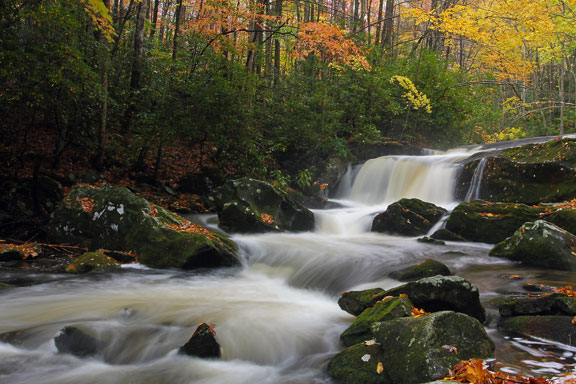 Smoky Mountains Fall Wallpaper Tremont Waterfall Video Great Smoky Mountains National Park