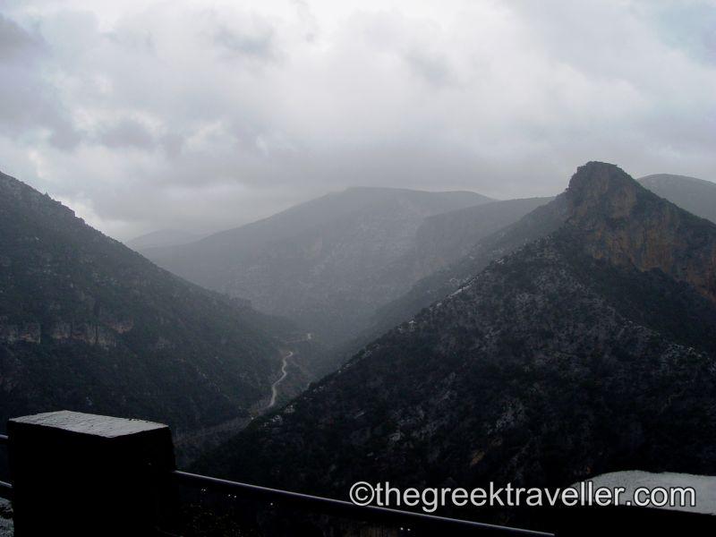 Πάρνωνας, Κοσμάς, Λεωνίδιο, Γεράκι, δρόμος