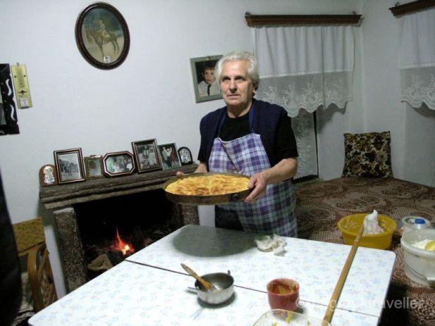 Πίτα παραδοσιακή, Χωριό Βυθός, Πεντάλοφος, Πίνδος
