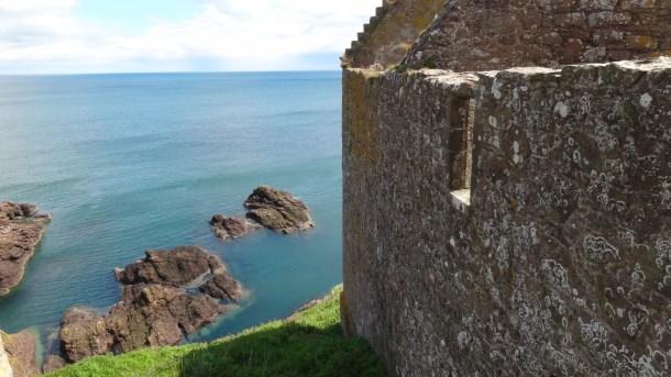 Ruins overlooking water