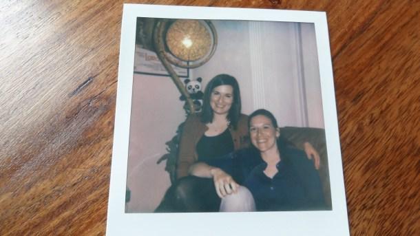 Polaroid of my friend and I
