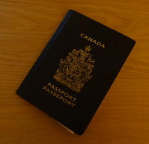 Photo of a Canadian passport