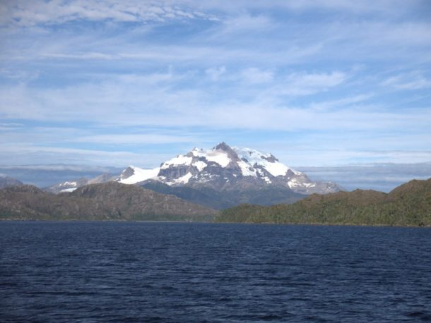 Infinity Expedition - What a sight after months at sea! The mountains of Patagonia, Chile