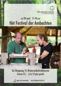 Het Festival der Ambachten 2018 - The Green Circle - Workshops in de Natuur (poster Daan)