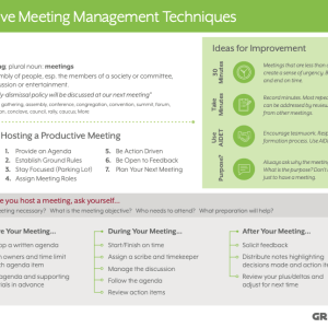 Tips and tricks for improving meeting effectiveness