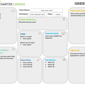 Project Team Charter Canvas
