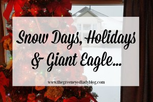 Snow Days, Holidays, and Giant Eagle…