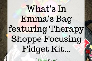 What's In Emma's Bag featuring Therapy Shoppe Focusing Fidget Kit…