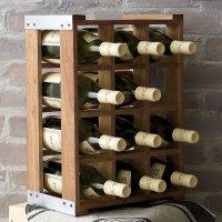 Rustic Acacia Wood Crate Wine Racks