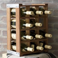 Rustic Acacia Wood Crate Wine Racks - The Green Head
