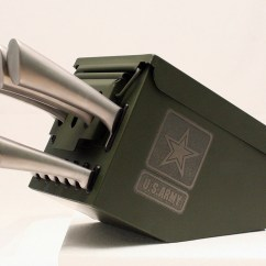 Chef Wall Decor Kitchen Range With Downdraft Ventilation Ammo Box Knife Block