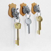Animal Head Key Holders - The Green Head