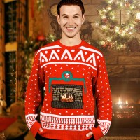 Animated Crackling Fireplace Ugly Christmas Sweaters - The ...