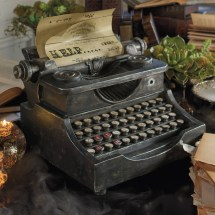 Animated Haunted Typewriter - Green Head