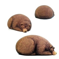 Soft Bean Bag Chair Mid Century Swivel Chairs Big Sleeping Grizzly Bear   The Green Head