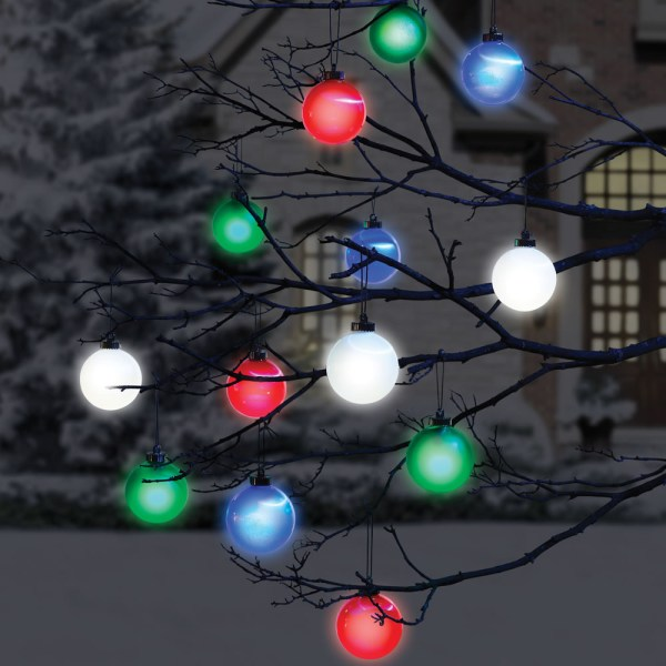 Outdoor Lighted Christmas Tree Ornaments