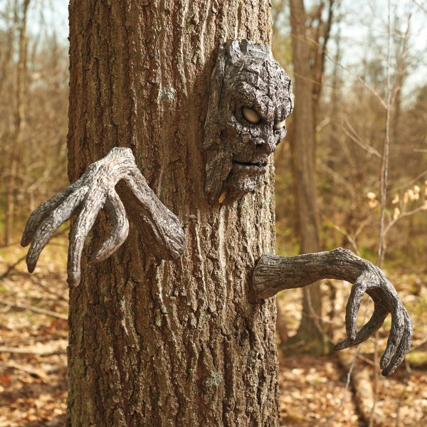 Creepy Tree Face And Branch Arms Set - Green Head