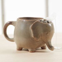 Elephant Tea Mug With Tea Bag Holder