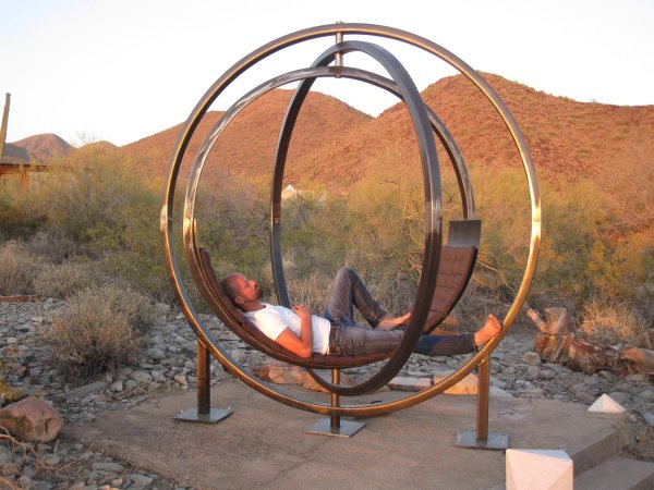 Etazin - Gyroscopic Spinning Hammock Outdoor Sculpture