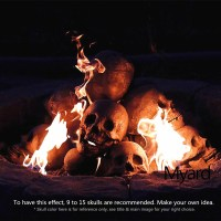 Fire Pit Skull Logs | The Green Head