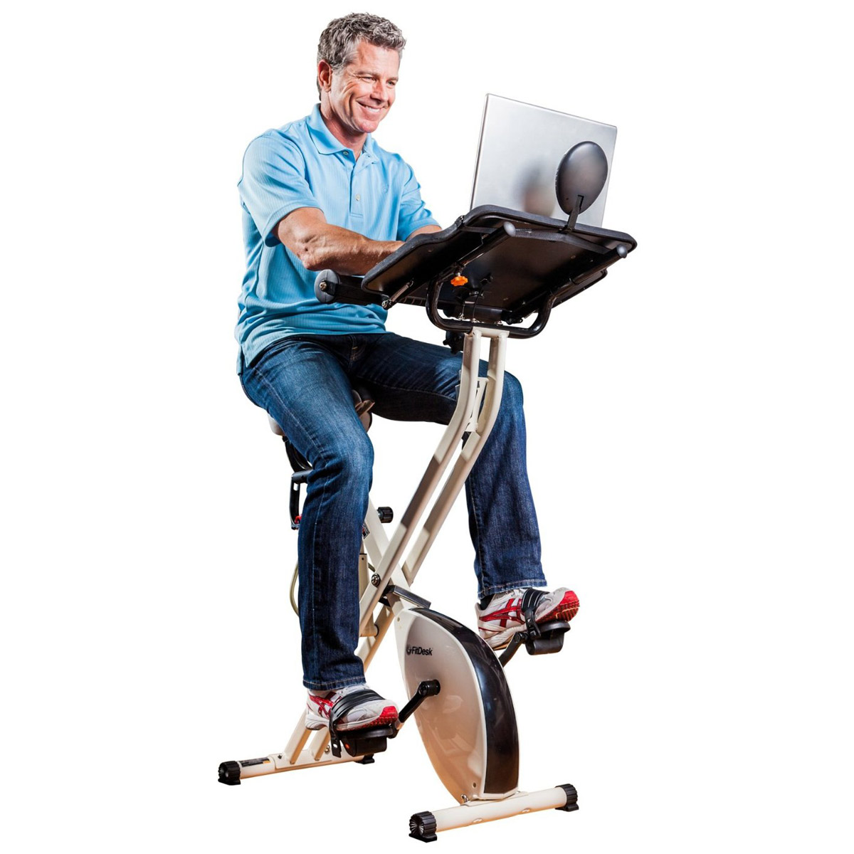 FitDesk X1  Folding Exercise Bike With Sliding Desk