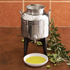Oil Dispenser Kitchen Laminate Countertops Home Depot Fustino - Stainless Steel Olive The Green Head