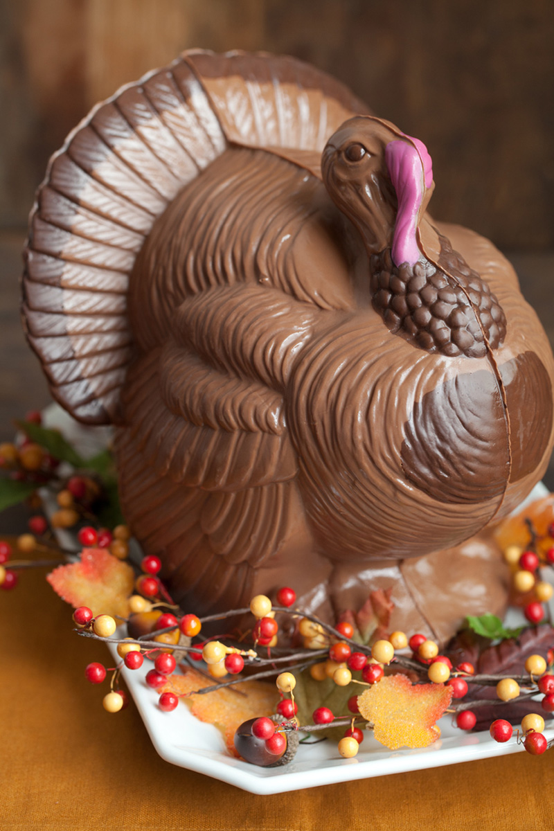 Giant Chocolate Turkey Thanksgiving Centerpiece  The Green Head
