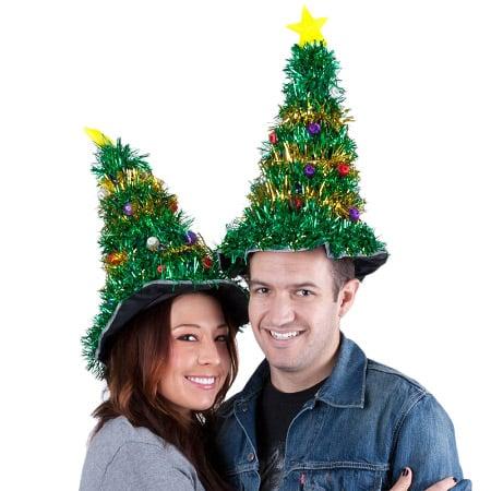 b00ba4b8a8694 Gigantic Light-Up Christmas Tree Hat The Green Head2018 novelty led ...