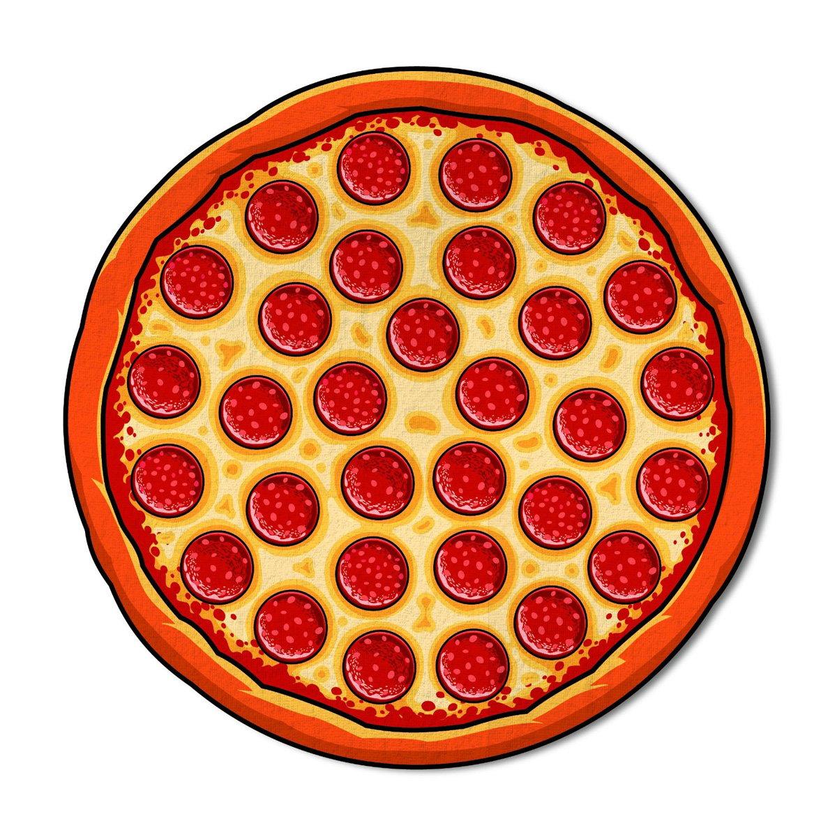 Gigantic Pepperoni Pizza Beach Blanket  The Green Head