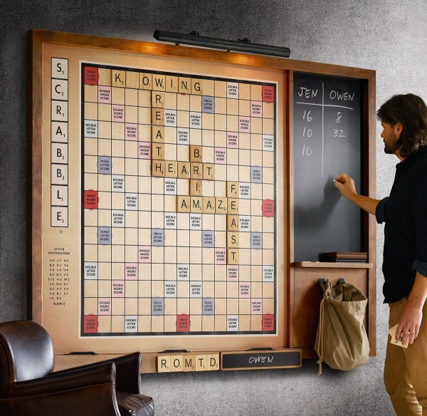 Gigantic Wall Scrabble Game - Green Head