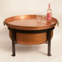 Handcrafted Copper Fire Pit / Grill / Table