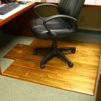 Hardwood Office Chair Mat - The Green Head